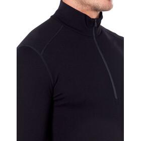 Icebreaker 260 Tech Camiseta Manga Larga 1/2 Cremallera Hombre, black